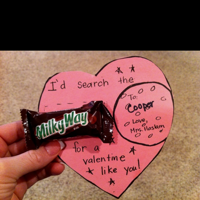 Valentine card from teacher... Too cute!