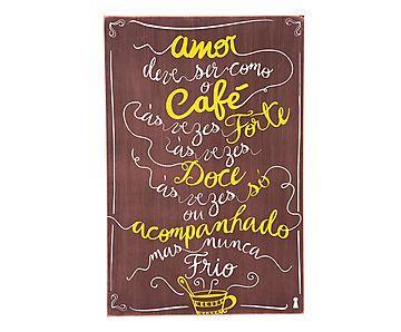 Box Decorativo Amor Café - 40X60cm                                                                                                                                                                                 Mais
