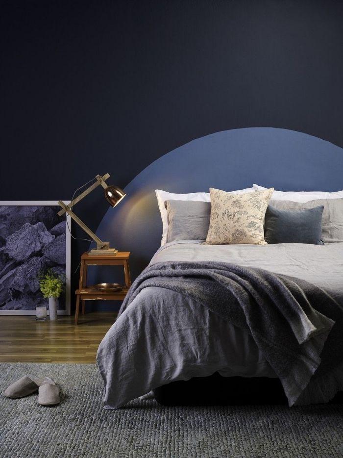1001 + idées pour réaliser une tête de lit en peinture magnifique | Furniture, Bed, Home decor