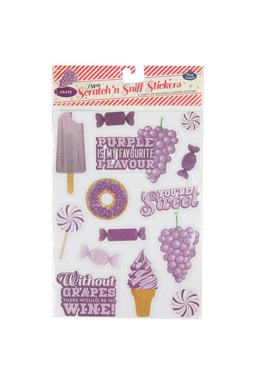 scented stickers GRAPE