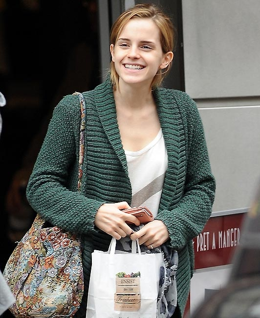 I don't understand... How can she be this beautiful without any makeup? Oh I know, she's Emma Watson, the definition of gorgeous.