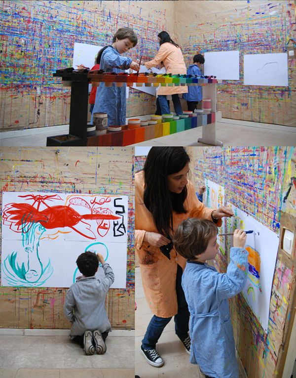 gorgeous art studio for kids!