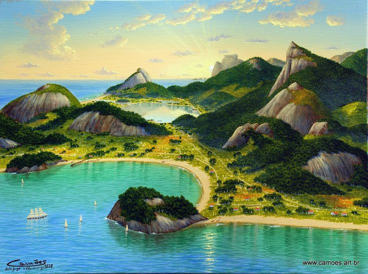 1-Botafogo, Morro da Viúva e Flamengo em 1820