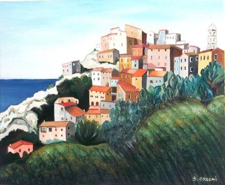 peinture de paysage Corse faite à la main  : Peintures par j-orsoni