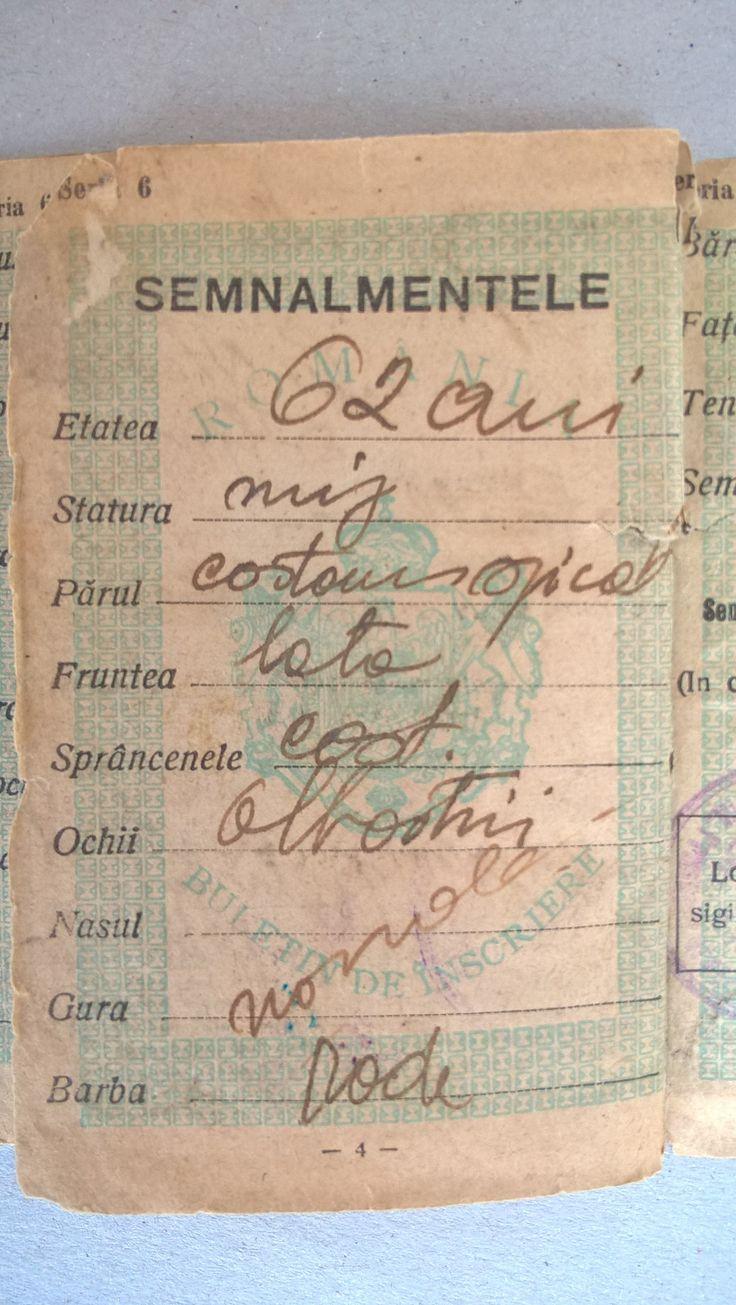 My Ex. Grandfather NEAGU GHEORGHE , Born in 17 April 1882 in Broscauti - Storojinet , and Dead ! in Year 1970 ? , in Bucharest . Grandson NEAGU MIRCEA 54 Years , Born in 29 April 1963 in Bucharest , with My Addressee : NEAGU MIRCEA - Bulevardul Mihai Bravu Nr.98-106 Bloc D.16 Sc.1 Etaj 6 Ap.23 Sector 2 Of.Postal 39 Cod.-021332 Bucharest .