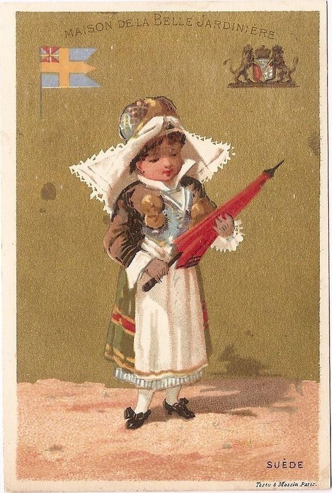 Suede - - Costume Testu Massin - Chromo Maison de la Belle Jardière - Trade Card
