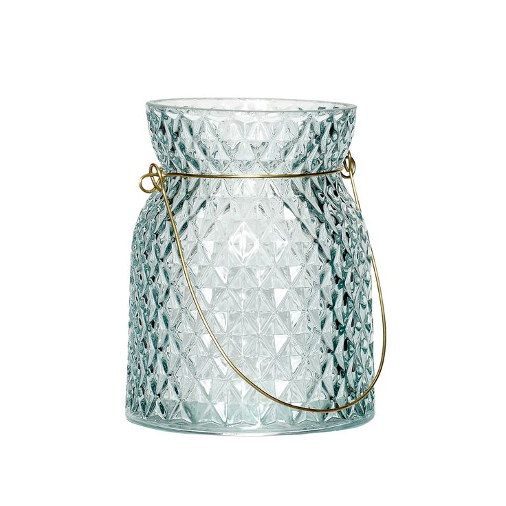 Small blue glass votive. Product number: 540116 - Designed by Hübsch