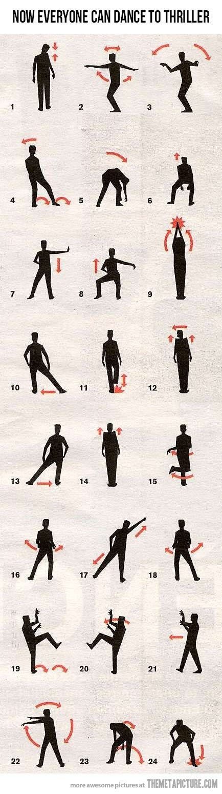 The Thriller dance step by step haha!