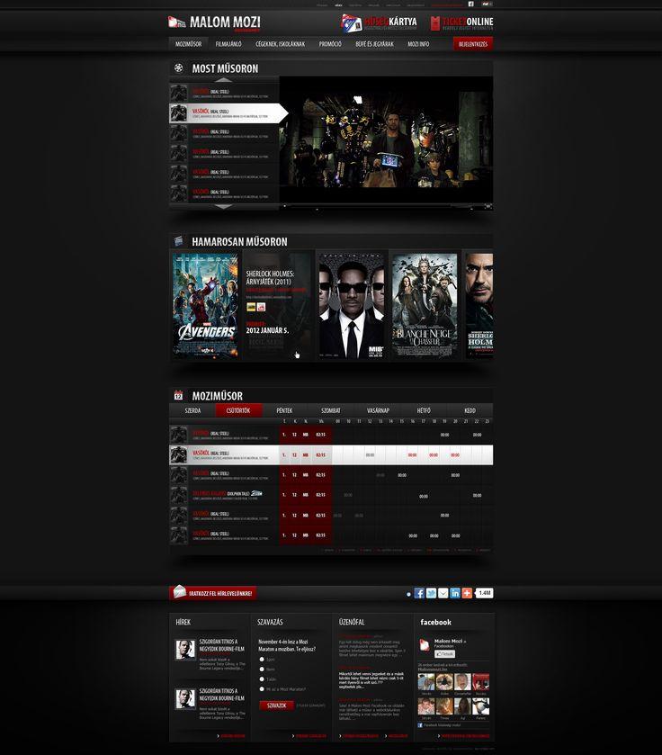 Web Design: Cinema by *VictoryDesign on deviantART