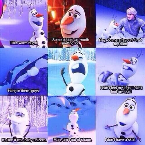 olaf the snowman from frozen picture comic strips