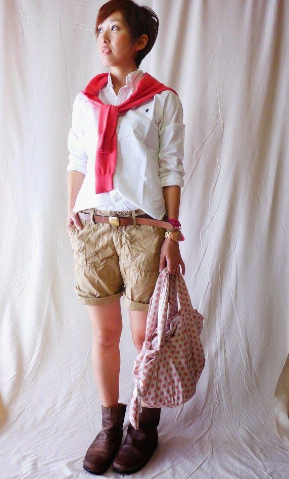 カラーはガーリーだけどスタイルはボーイズ。 ピンクいれるとボーイッシュになりすぎなくていいかも。  Cardigan/UNIQLO Shirt/Gymphlex. Bottoms/niko and... Bag/SEE BY CHLOE Shoes/Unknown  Today is Boys pink style.