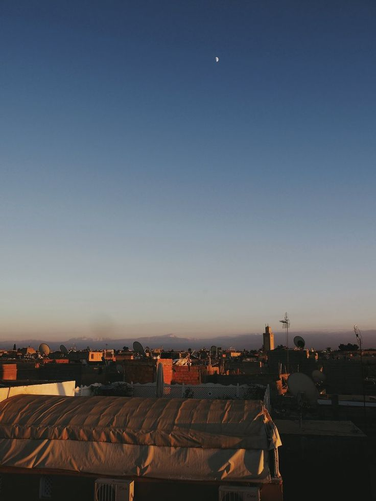 Rooftop view of the Atlas Mountains - Marrakech