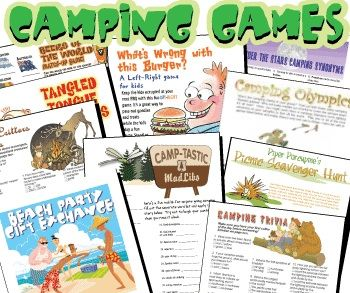 Haven't checked the site out yet, but it looks promising-- Printable camping games