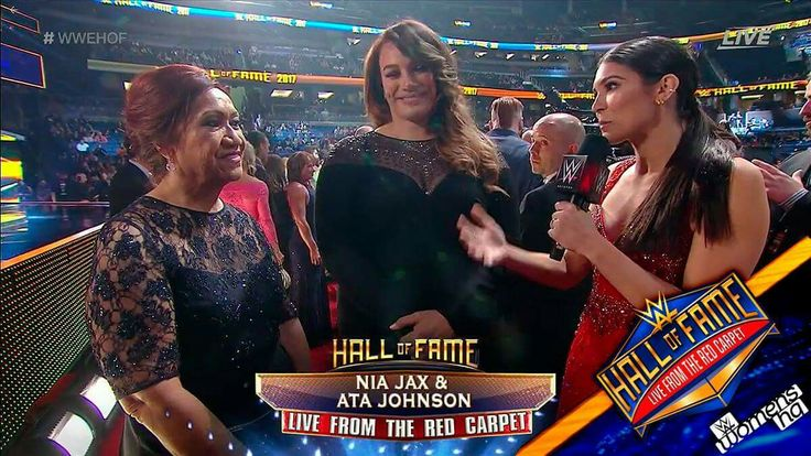 Ata Johnson & Savelina Fanene at WWE Hall of Fame 2017