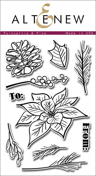 This hand drawn set will give artistic flair to your holiday projects!  A large poinsettia and pine cone are accompanied by other festive greenery and will allow you to create wreaths, Christmas sprigs, and more!