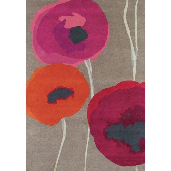 Dywan w duże #maki(  #poppies) - kwiatowy wzór w nowoczesnej interpretacji.