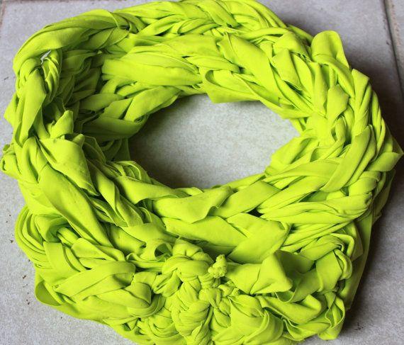 summer  infinity scarf lemontree di ilFilodiFranci su Etsy