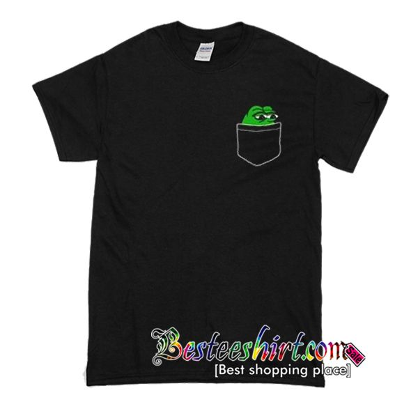 Pepe The Frog Pocket T-Shirt from besteeshirt.com This t-shirt is Made To Order, one by one printed so we can control the quality.