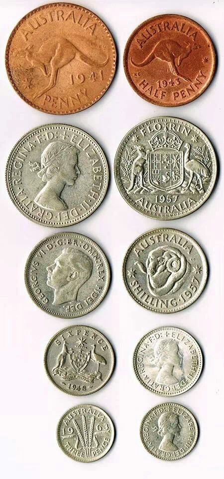 Australian coins before 14 th February 1966