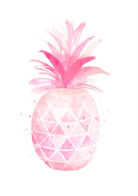 Pineapple Watercolour Art Print in A4 Size. Made by Billy & Scarlet.