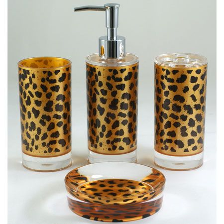 I will have a cheetah print bathroom one day!