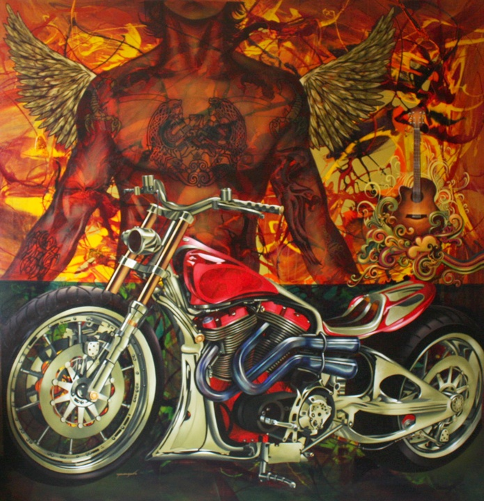 """60"""" x 60"""" - Acrylic On Canvas"""