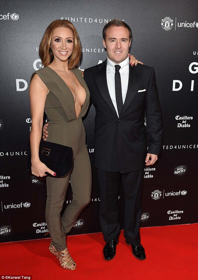 Proud parents: Lucy-Jo Hudson, 32, and husband Alan Halsall, 33, as they…