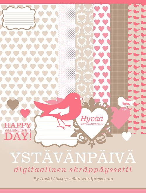 Freebie | Digital Valentine Scrapbooking Kit