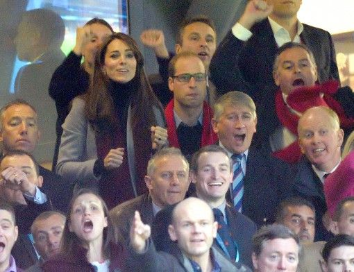 Wills and Kate at Wales v. Australia. I love how much they care. Their sporting faces are the best.