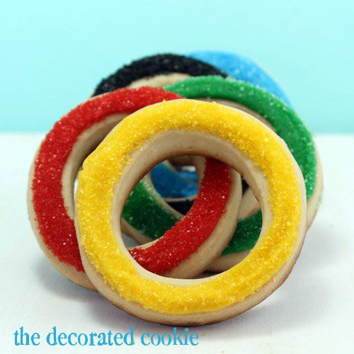 Olympic Ring Sugar Cookies Recipe