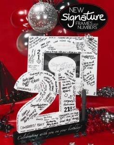 Splosh Signature Number | Birthday Gifts | Autograph Frames
