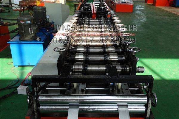 #Stud #and #track #Roll #Forming #Machine consists of feeding, forming, after molding, products smooth appearance beautiful appearances, uniform lacquer veins, high strength, durable, widely used in industrial and civil buildings, such as workshop, warehouse, locomotive shed, hangar room, gymnasium, exhibition halls, theaters and other surface and wall.