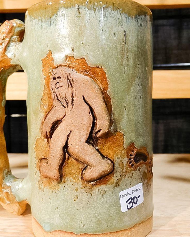 https://flic.kr/p/PKTWEG | Sasquatch mug, Denise Davis, Karmadilo Clayworks | at Holiday Market, November 27, 2016