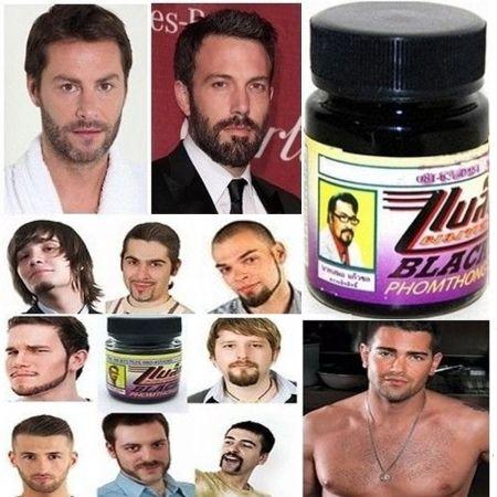 BLACK PHOMTHONG NATURAL FACIAL HAIR GROWTH CREAM CHEST HAIR MUSTACHE BEARD, Health  Beauty :: Health Care :: Other Health Care :: Bullszi.c...