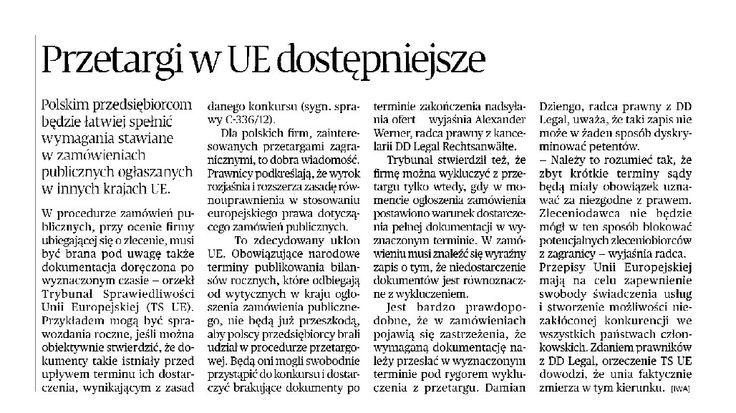 Kancelaria DD Legal Puls Biznesu #przetargi #UE