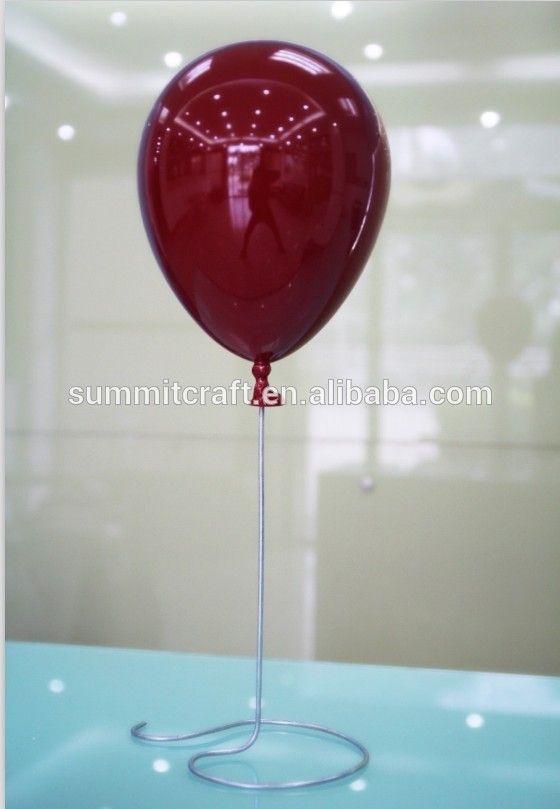 Colorful artificial advertisement ballon display props hard plastic balloon
