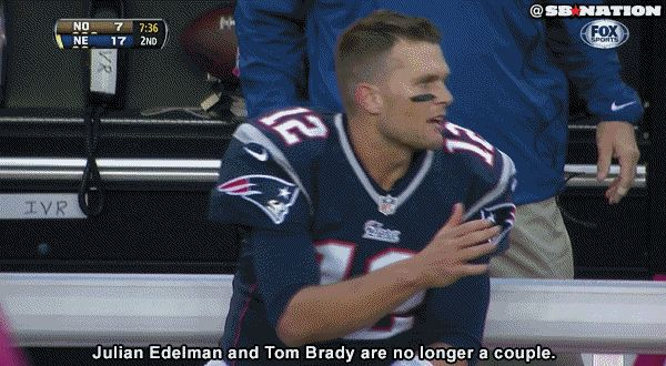 Tom Brady Gets Dissed By Wide Receiver Julian Edelman (GIF) | Complex