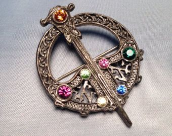 A colourful tara brooch