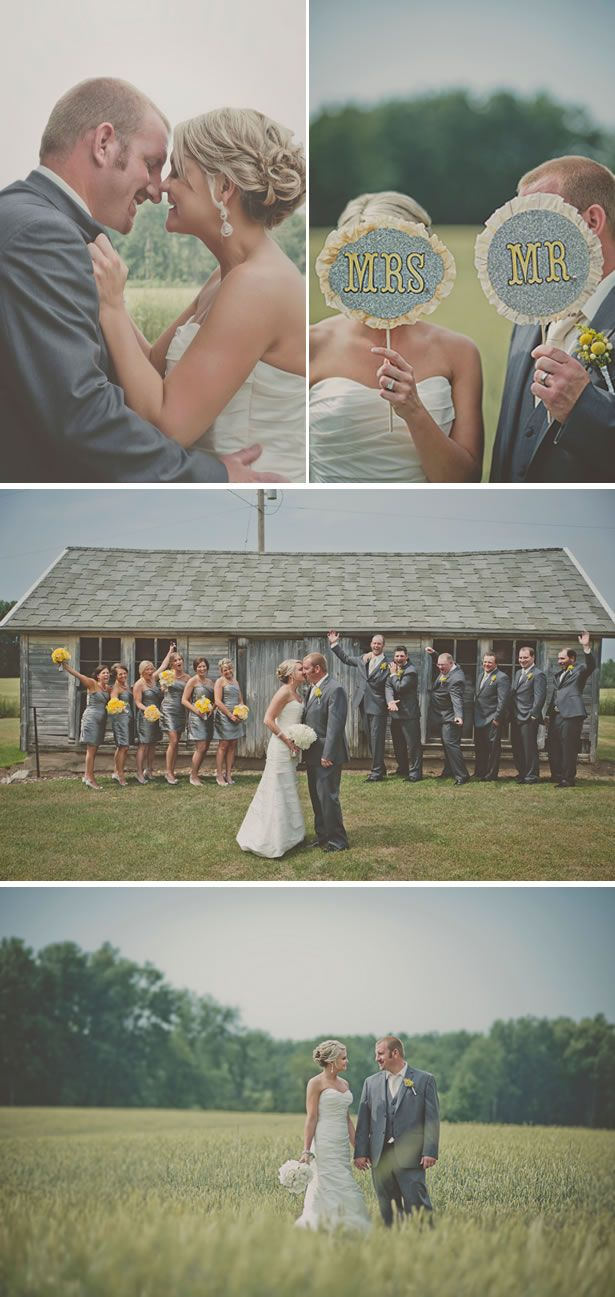 rustic gray and yellow summer farm wedding 4, real weddings ideas and trends