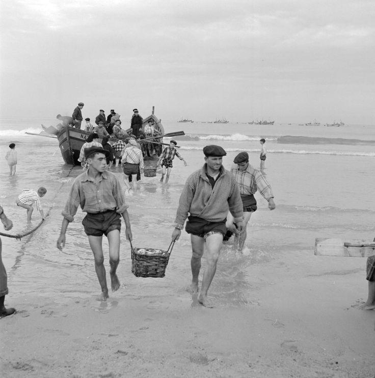 Cenas da Vida Piscatória. Nazaré, década de 50.