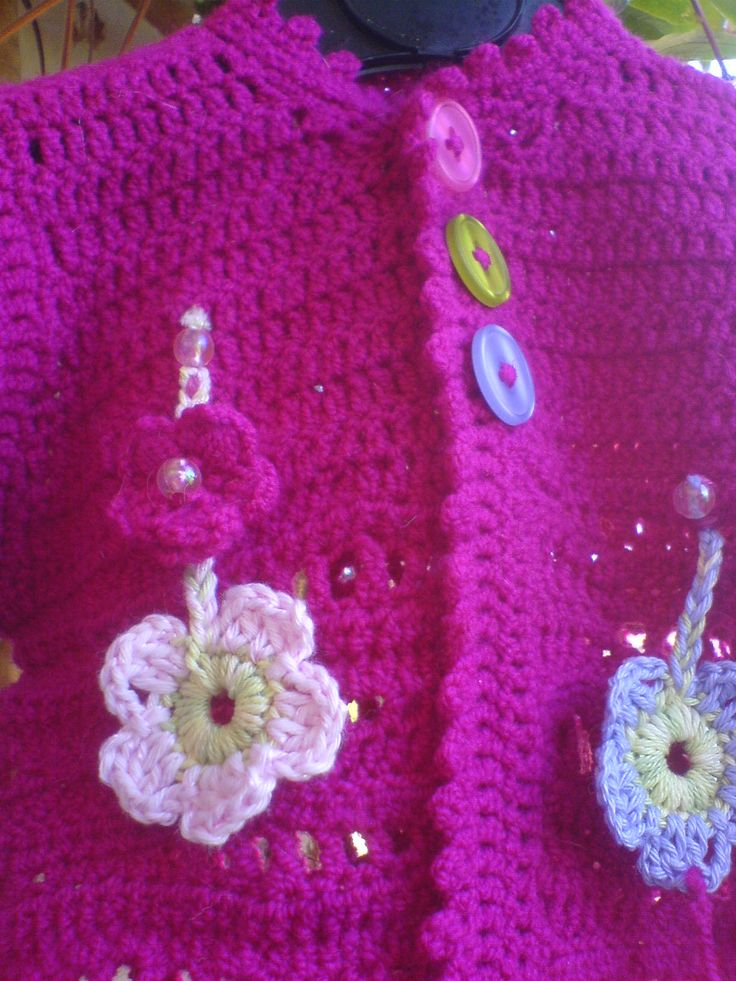 7 best Mädchenjacke gehäkelt / Girlsjacket crochet Pink images on ...