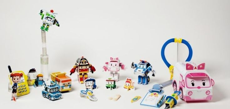 Robocar poli Hospital 3D Puzzle DIY Book Child Transformer Jigsaw Korea Samsung #SamsungPublishingCoLtd