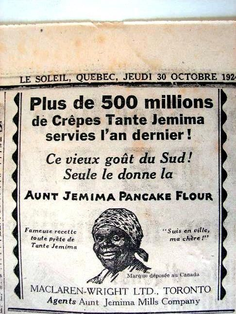 Aunt Jemima Panqueques Ad 1924 F23 5x4 5 | eBay