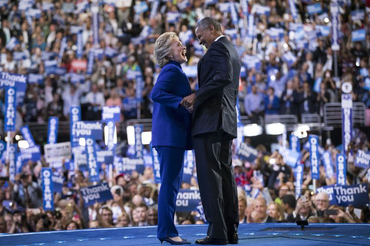 PHILADELPHIA 7/27/2016 Hillary Clinton and President Obama at the Democratic National Convention. Doug Mills/The New York Times