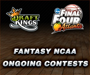 DraftKings promo for the NCAA Final Four Tournament. DraftKings ran a huge March Madness fantasy contest awarding thousands of dollars to many lucky DraftKings players!