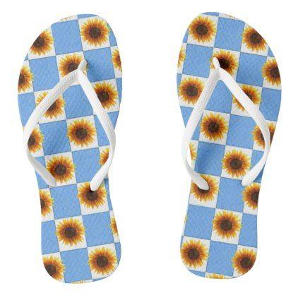 6f2719a08361e Flip Flops Sunflower