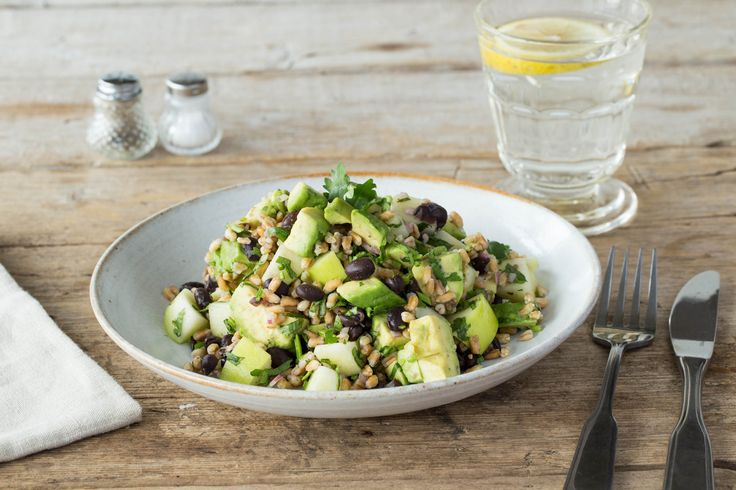Black Bean and Farro Salad with Apples and Cilantro ...