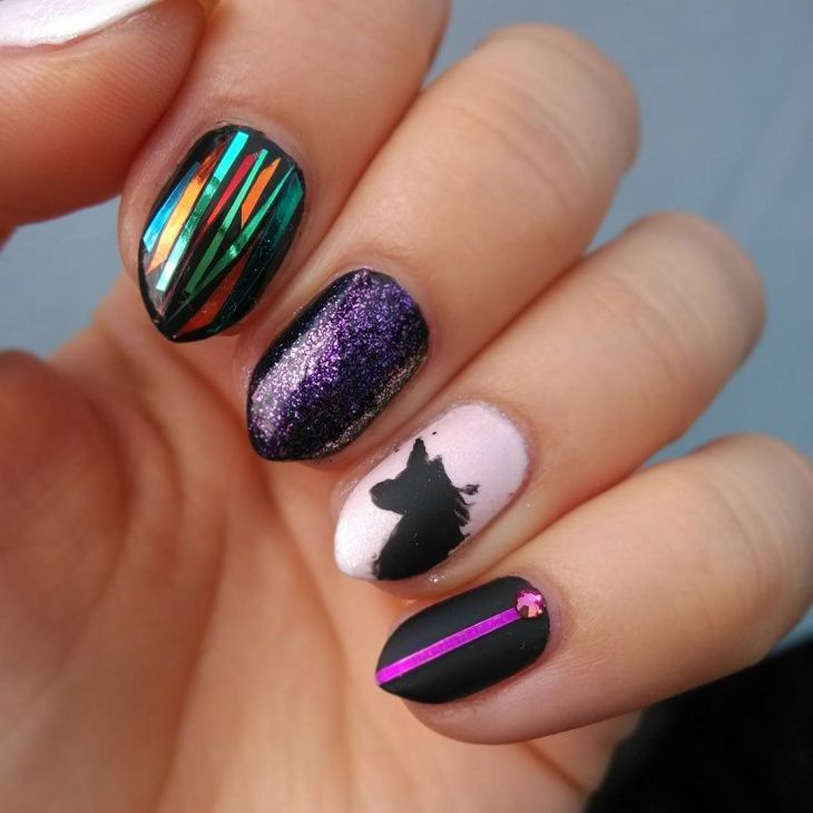 191 best cute nail designs images on pinterest manicure nail naildesigners have you ever heard of mismatched nail art if you want to break out of your usual nail designs go crazy with unmatching art prinsesfo Gallery