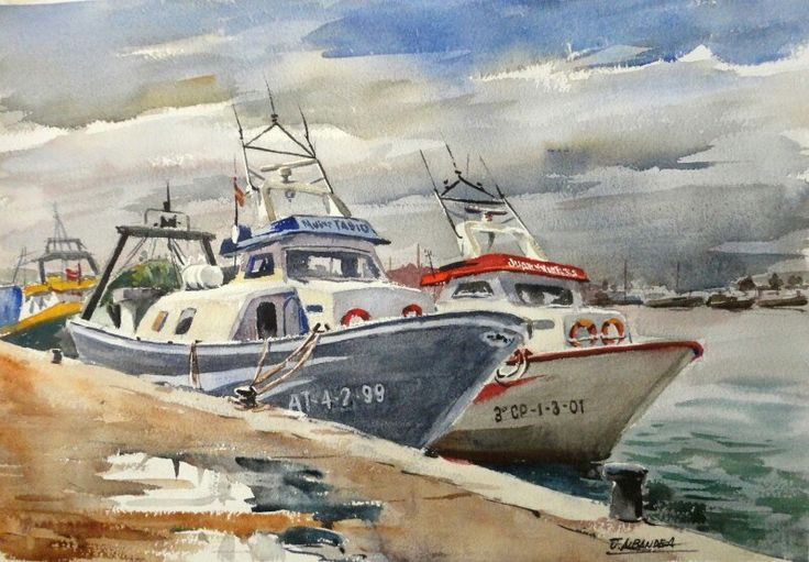 Juan albandea puerto de burriana acuarela watercolors - Puerto burriana ...