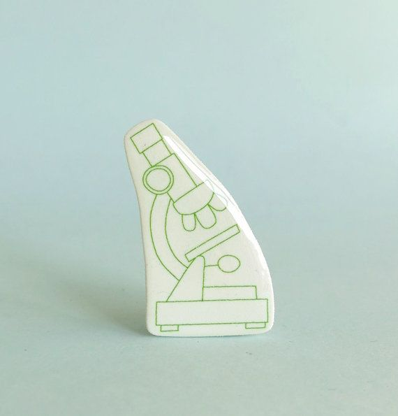 Microscope Brooch by Your Organ Grinder
